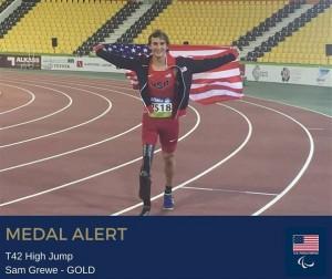 Sam Grewe w/ Gold Medal